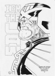 dredd i am the law bw